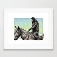 planet of the apes Framed Art Prints featuring Planet of the Apes (Caesar) by Hector Trunnec