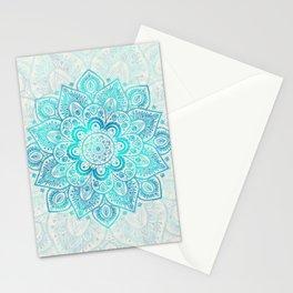 Turquoise Lace Mandala Stationery Cards