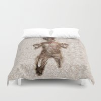 han solo Duvet Covers featuring Han Solo In Carbonite by Graphic Craft