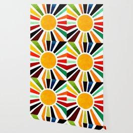 Sun Retro Art Wallpaper
