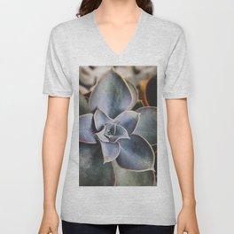 beautiful succulent Unisex V-Neck
