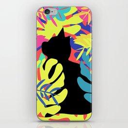 Tropical cat iPhone Skin