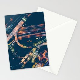 City in the sky fantastic Stationery Cards