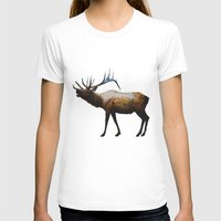 rocky T-shirts featuring The Rocky Mountain Elk by Davies Babies