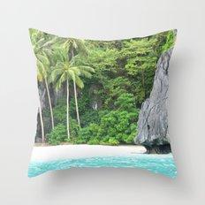 Shine Beach Throw Pillow