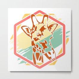 Giraffe gift animal savanna steppe neck Metal Print