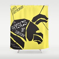 physics Shower Curtains featuring The Physics of Sorrow by Open Letter Books
