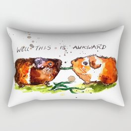 Guinea Pigs Feeling Awkward Rectangular Pillow