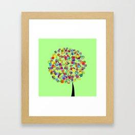 Tree of colors Framed Art Print