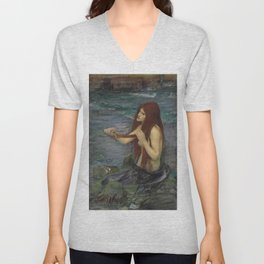 John William Waterhouse Mermaid 1892 Unisex V-Neck