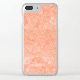 Mosaic Peaches & Cream Clear iPhone Case