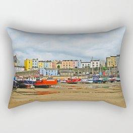 Tenby Harbour . Sunlight. Pembrokeshire. Wales. Rectangular Pillow