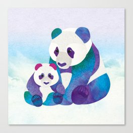 Alfie & Alice the Pandas Canvas Print
