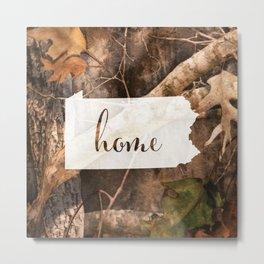 Pennsylvania is Home - Camo Metal Print