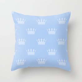 Louis Blue Crowns- Prince of Cambridge Throw Pillow