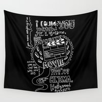 lyrics Wall Tapestries featuring Lettering Lyrics by Insait