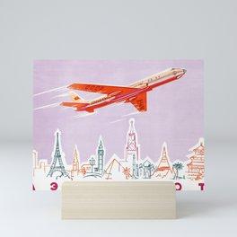 Aeroflot - Vintage Soviet Travel Poster Mini Art Print