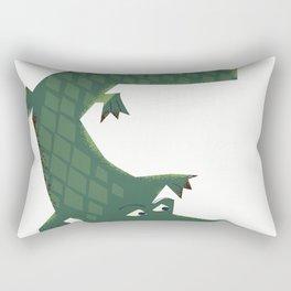 Snapping vintage Alligator Rectangular Pillow