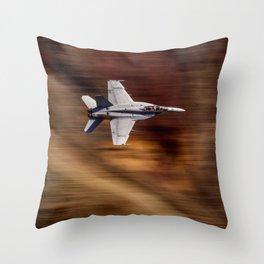 Jet Blur Rainbow Canyon 4-26-16 Throw Pillow