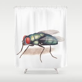 Fly by Lars Furtwaengler   Colored Pencil / Pastel Pencil   2011 Shower Curtain