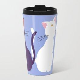 Luna & Artemis (Minimalist) - Blue Travel Mug