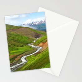 Watercolor Landscape, Trollskagi 32, Iceland Stationery Cards