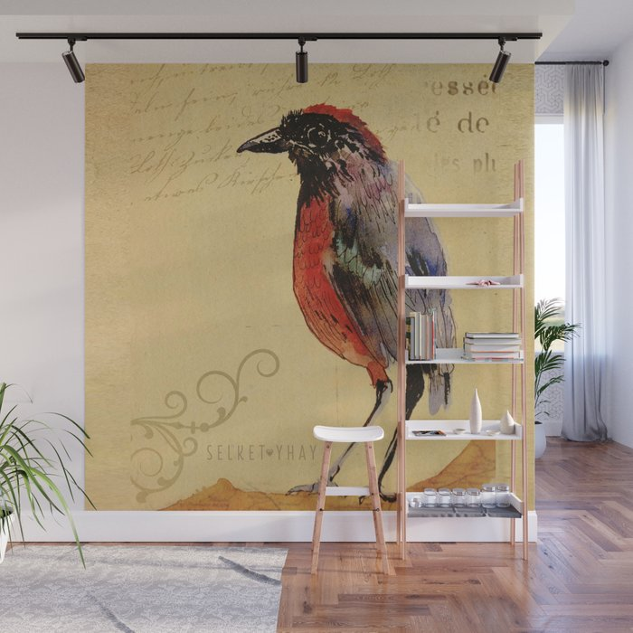 Vintage Bird Wall Mural