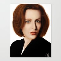 scully Canvas Prints featuring Scully by Alexia Rose