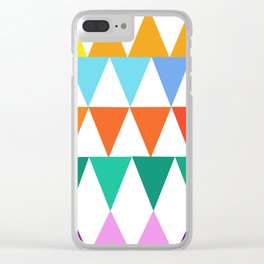 Triangles of Color Clear iPhone Case