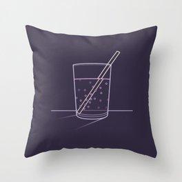 Neon soda Throw Pillow