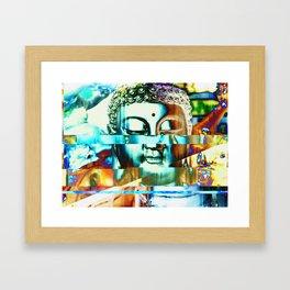 Glitch Buddha #3 Framed Art Print