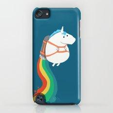 Fat Unicorn on Rainbow Jetpack iPod touch Slim Case