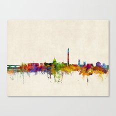 Washington DC Skyline Cityscpae Canvas Print