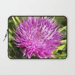 Purple Thistle Wildflower Laptop Sleeve