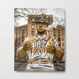 Killa Sha RIP Metal Print