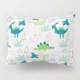 Dino Fun land Grey Pillow Sham