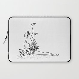 white swan.  Dance (  https://society6.com/vickonskey/collection ) Laptop Sleeve