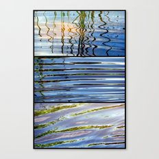 Three Minutes in the Ripple of Time - Triptych Canvas Print