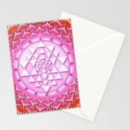Sri Yantra Lotus I Stationery Cards
