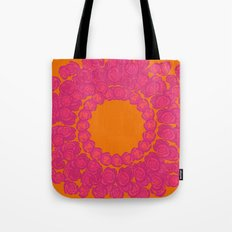 Pink Rose Wreath Tote Bag