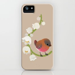 Brown-capped rosy finch iPhone Case