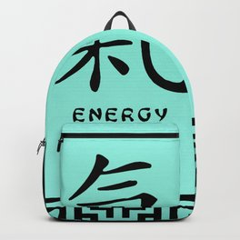 """Symbol """"Energy"""" in Green Chinese Calligraphy Backpack"""