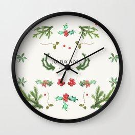 Joyeux Noël Wall Clock
