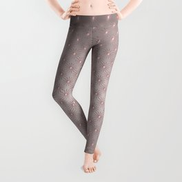 Elegant Star Pattern Rose Quartz Leggings
