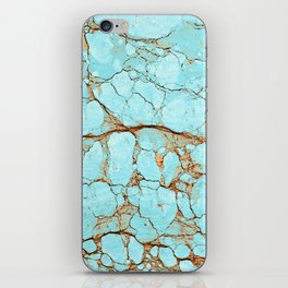 Rusty Cracked Turquoise iPhone Skin
