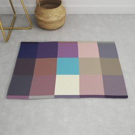 Kami - Colorful Decorative Abstract Pixel Art Pattern Rug