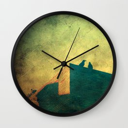 Look up for those black guardians Wall Clock