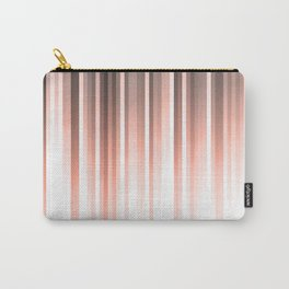 Aurora, coral pink vertical lines, pastel colours of the first rays sun light Carry-All Pouch