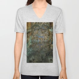Apocalyptic Vision of the Sistine Chapel Rome 2020 Unisex V-Neck