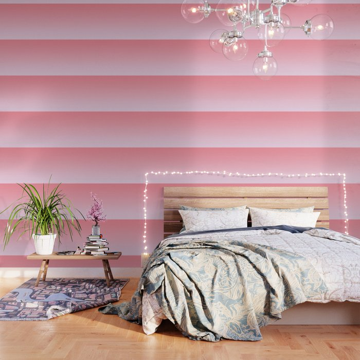 Pastel Ombre Rose Color Gradient Millennial Pink Lilac Cute Pattern Wallpaper